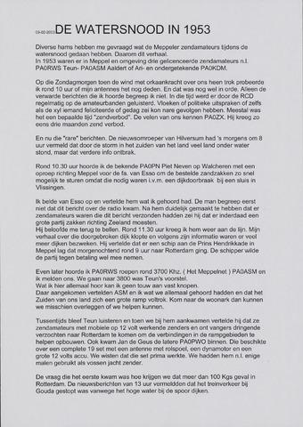 Watersnood documentatie 1953 - diversen 2003-02-07
