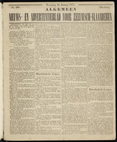 Ter Neuzensche Courant. Algemeen Nieuws- en Advertentieblad voor Zeeuwsch-Vlaanderen / Neuzensche Courant ... (idem) / (Algemeen) nieuws en advertentieblad voor Zeeuwsch-Vlaanderen 1872-01-31