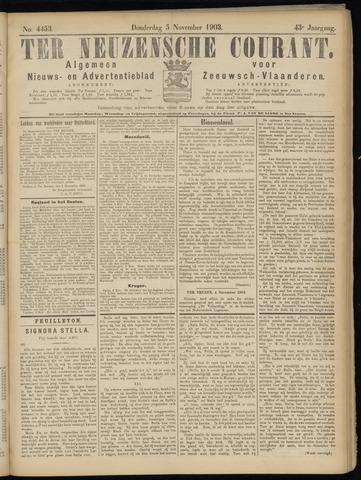 Ter Neuzensche Courant. Algemeen Nieuws- en Advertentieblad voor Zeeuwsch-Vlaanderen / Neuzensche Courant ... (idem) / (Algemeen) nieuws en advertentieblad voor Zeeuwsch-Vlaanderen 1903-11-05
