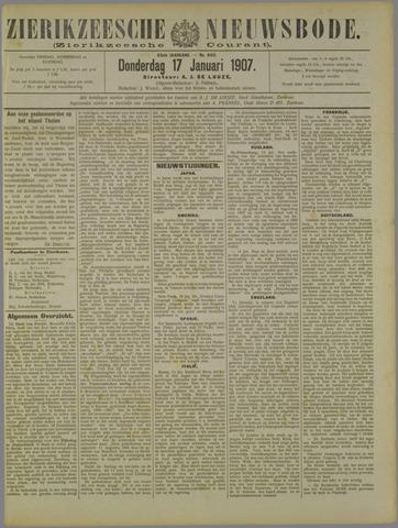 Zierikzeesche Nieuwsbode 1907-01-17