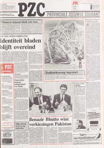 Provinciale Zeeuwse Courant 1988-11-18