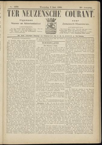 Ter Neuzensche Courant. Algemeen Nieuws- en Advertentieblad voor Zeeuwsch-Vlaanderen / Neuzensche Courant ... (idem) / (Algemeen) nieuws en advertentieblad voor Zeeuwsch-Vlaanderen 1880-06-02