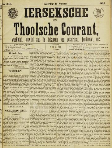 Ierseksche en Thoolsche Courant 1892-01-16