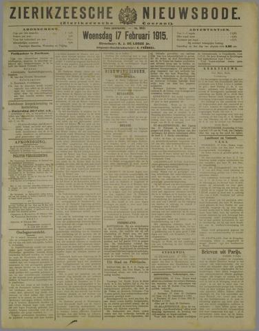 Zierikzeesche Nieuwsbode 1915-02-17