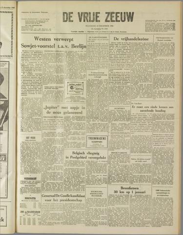 de Vrije Zeeuw 1958-12-15