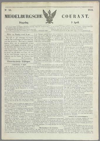Middelburgsche Courant 1855-04-03