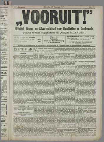 """""""Vooruit!""""Officieel Nieuws- en Advertentieblad voor Overflakkee en Goedereede 1917-01-20"""