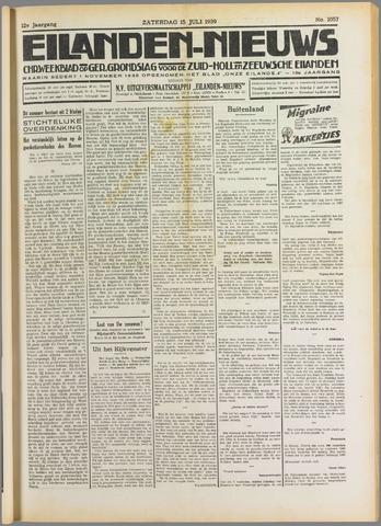Eilanden-nieuws. Christelijk streekblad op gereformeerde grondslag 1939-07-15