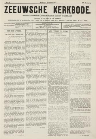 Zeeuwsche kerkbode, weekblad gewijd aan de belangen der gereformeerde kerken/ Zeeuwsch kerkblad 1939-12-01
