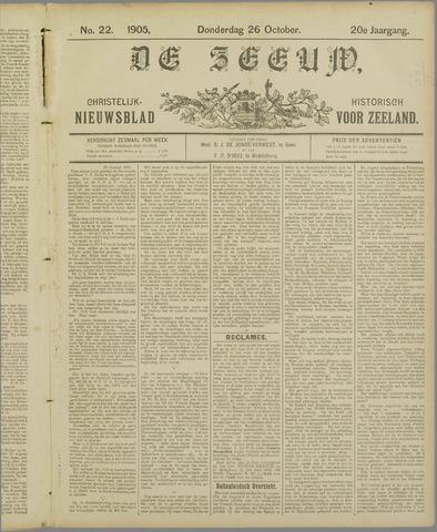 De Zeeuw. Christelijk-historisch nieuwsblad voor Zeeland 1905-10-26
