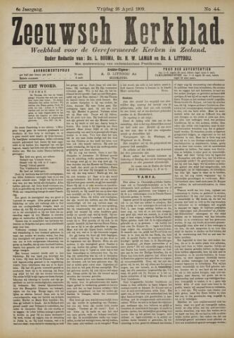 Zeeuwsche kerkbode, weekblad gewijd aan de belangen der gereformeerde kerken/ Zeeuwsch kerkblad 1909-04-23