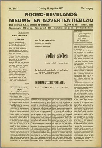 Noord-Bevelands Nieuws- en advertentieblad 1950-08-19