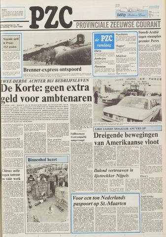 Provinciale Zeeuwse Courant 1986-04-10