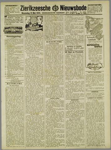 Zierikzeesche Nieuwsbode 1924-05-21