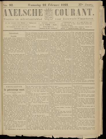 Axelsche Courant 1922-02-22