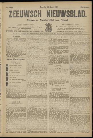 Ter Neuzensch Volksblad. Vrijzinnig nieuws- en advertentieblad voor Zeeuwsch- Vlaanderen / Zeeuwsch Nieuwsblad. Nieuws- en advertentieblad voor Zeeland 1919-03-22