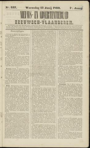 Ter Neuzensche Courant. Algemeen Nieuws- en Advertentieblad voor Zeeuwsch-Vlaanderen / Neuzensche Courant ... (idem) / (Algemeen) nieuws en advertentieblad voor Zeeuwsch-Vlaanderen 1860-06-13