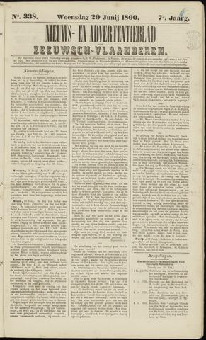 Ter Neuzensche Courant. Algemeen Nieuws- en Advertentieblad voor Zeeuwsch-Vlaanderen / Neuzensche Courant ... (idem) / (Algemeen) nieuws en advertentieblad voor Zeeuwsch-Vlaanderen 1860-06-20