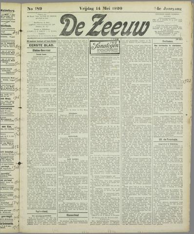 De Zeeuw. Christelijk-historisch nieuwsblad voor Zeeland 1920-05-14