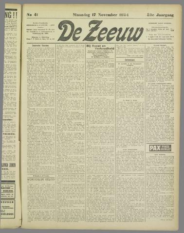 De Zeeuw. Christelijk-historisch nieuwsblad voor Zeeland 1924-11-17