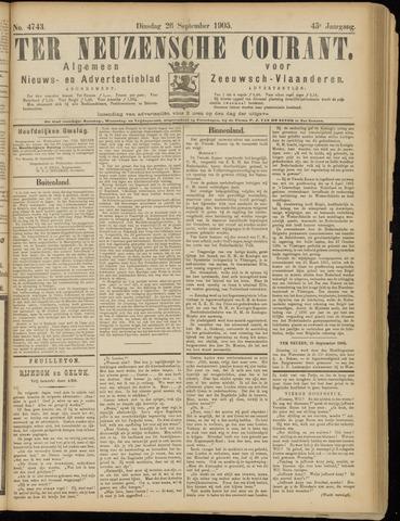 Ter Neuzensche Courant. Algemeen Nieuws- en Advertentieblad voor Zeeuwsch-Vlaanderen / Neuzensche Courant ... (idem) / (Algemeen) nieuws en advertentieblad voor Zeeuwsch-Vlaanderen 1905-09-26
