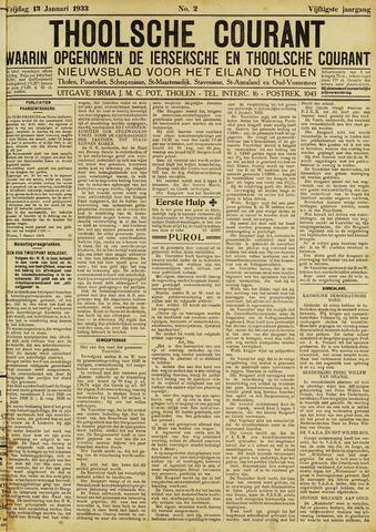 Ierseksche en Thoolsche Courant 1933-01-13