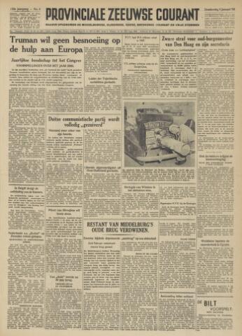 Provinciale Zeeuwse Courant 1950-01-05