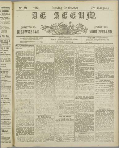 De Zeeuw. Christelijk-historisch nieuwsblad voor Zeeland 1912-10-22