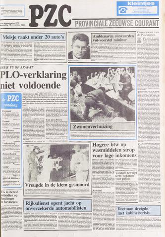 Provinciale Zeeuwse Courant 1988-11-16