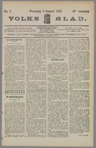 Volksblad 1923-01-03