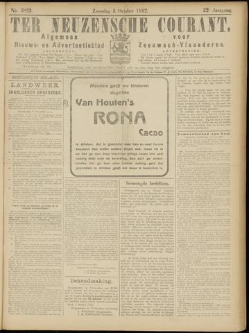 Ter Neuzensche Courant. Algemeen Nieuws- en Advertentieblad voor Zeeuwsch-Vlaanderen / Neuzensche Courant ... (idem) / (Algemeen) nieuws en advertentieblad voor Zeeuwsch-Vlaanderen 1912-10-05