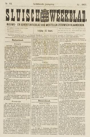 Sluisch Weekblad. Nieuws- en advertentieblad voor Westelijk Zeeuwsch-Vlaanderen 1877-03-23