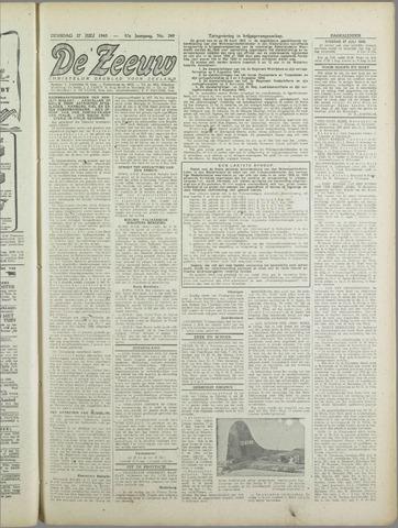 De Zeeuw. Christelijk-historisch nieuwsblad voor Zeeland 1943-07-27