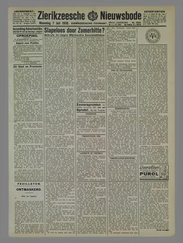 Zierikzeesche Nieuwsbode 1930-07-07