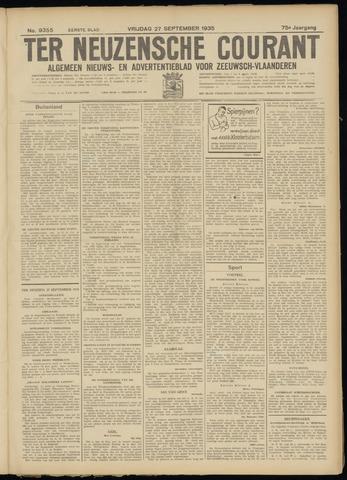 Ter Neuzensche Courant. Algemeen Nieuws- en Advertentieblad voor Zeeuwsch-Vlaanderen / Neuzensche Courant ... (idem) / (Algemeen) nieuws en advertentieblad voor Zeeuwsch-Vlaanderen 1935-09-27