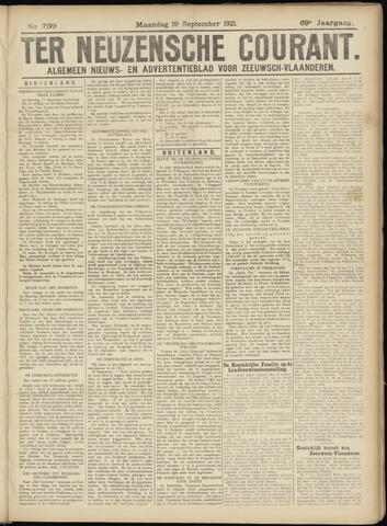 Ter Neuzensche Courant. Algemeen Nieuws- en Advertentieblad voor Zeeuwsch-Vlaanderen / Neuzensche Courant ... (idem) / (Algemeen) nieuws en advertentieblad voor Zeeuwsch-Vlaanderen 1921-09-19