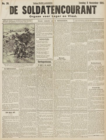 De Soldatencourant. Orgaan voor Leger en Vloot 1914-11-08