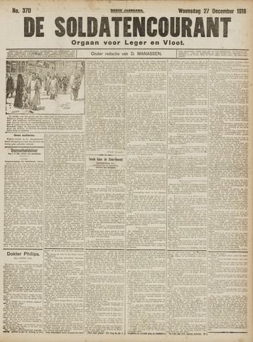 De Soldatencourant. Orgaan voor Leger en Vloot 1916-12-27