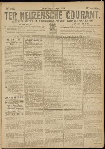 Ter Neuzensche Courant. Algemeen Nieuws- en Advertentieblad voor Zeeuwsch-Vlaanderen / Neuzensche Courant ... (idem) / (Algemeen) nieuws en advertentieblad voor Zeeuwsch-Vlaanderen 1914-04-23