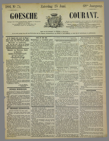 Goessche Courant 1881-06-25
