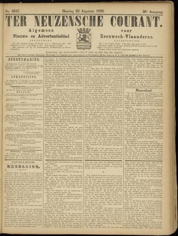 Ter Neuzensche Courant. Algemeen Nieuws- en Advertentieblad voor Zeeuwsch-Vlaanderen / Neuzensche Courant ... (idem) / (Algemeen) nieuws en advertentieblad voor Zeeuwsch-Vlaanderen 1896-08-25