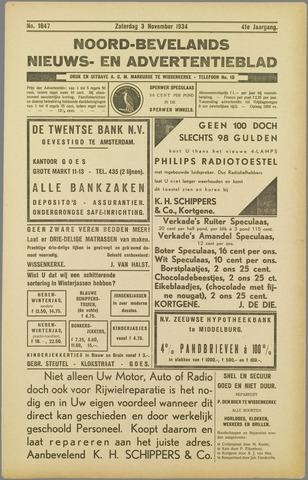 Noord-Bevelands Nieuws- en advertentieblad 1934-11-03