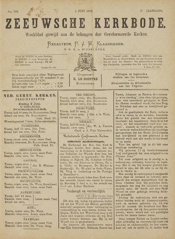 Zeeuwsche kerkbode, weekblad gewijd aan de belangen der gereformeerde kerken/ Zeeuwsch kerkblad 1889-06-01