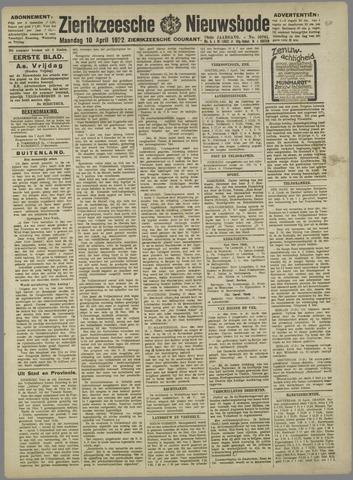 Zierikzeesche Nieuwsbode 1922-04-10
