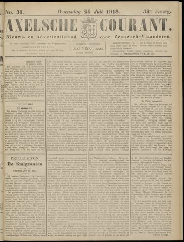 Axelsche Courant 1918-07-24