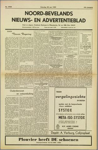 Noord-Bevelands Nieuws- en advertentieblad 1959-05-30