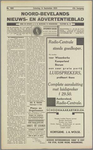 Noord-Bevelands Nieuws- en advertentieblad 1935-09-14