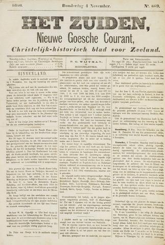Het Zuiden, Christelijk-historisch blad 1880-11-04