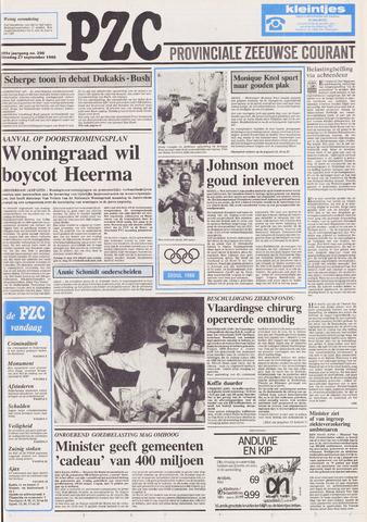 Provinciale Zeeuwse Courant 1988-09-27