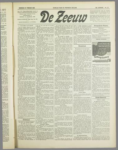 De Zeeuw. Christelijk-historisch nieuwsblad voor Zeeland 1934-02-21